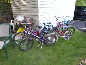 7 various kids bikes all good condition
