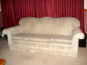 Antique couch &  2 winged back chairs
