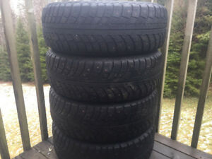 Four 195/65R15 Studded Winter Tires