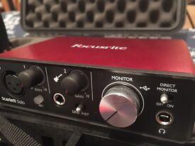 Focusrite guitar input interface