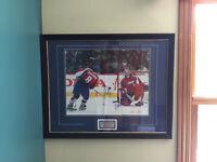 Carey Price & Alex Ovechkin autographed frame