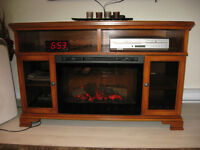 Entertainment Unit with Fireplace.