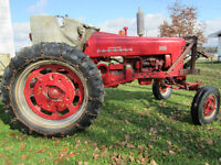 """FARMALL 300 tractor (35HP) with """"SICKLE BAR MOWER"""" and PLOW"""