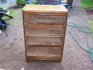 Antique Dresser Re-purposed into Shelving Unit 30 by 18 and 45