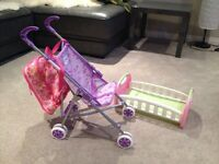 Doll Stroller and bed