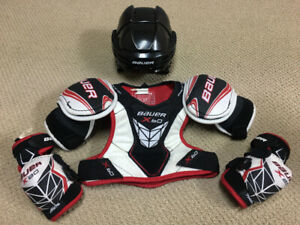 MOVING SALE!! Hockey helmet and gear