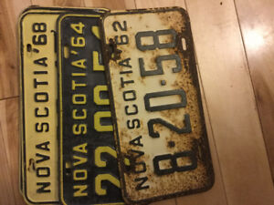 Antique license plates, I have many