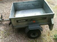 Small tipping car trailer in great condition