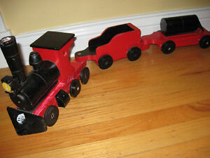 VINTAGE HAND MADE,  WOODEN TOY TRAIN
