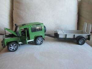 Land Rover and Trailer – Made by Bruder in Germany. QUALITY!