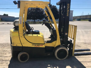 2014 HYSTER 6000lb Propane with Fork Positioner!
