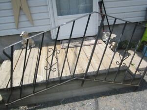 2  very  old  wrought  iron  stair railings