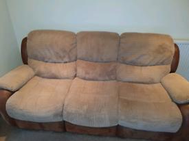 ** Reduced **Fabric 3 seater sofa