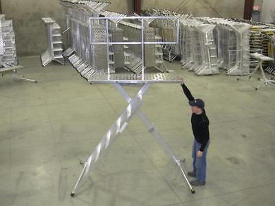 X-deck Safety Work Platform Ladder - Portable Lightweight Scaffold - 6 Step Pro