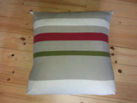 TWO GORGEOUS VERY LARGE FEATHER FILLED CUSHIONS