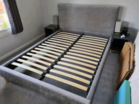 John Lewis Emily King Size Bed (Grey)