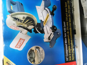 "Ryobi 10"" Compound Miter Saw with Laser-New in Box"