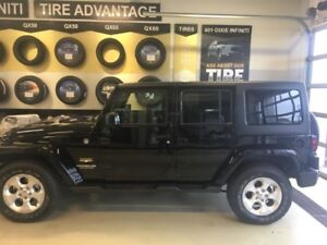 Black 2015 Jeep Wrangler Unlimited Sahara SUV, Crossover