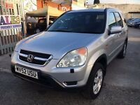 HONDA CRV SE EXECUTIVE PETROL MANUAL SAT NAV LEATHER SEATS