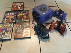 Gamecube system  with games