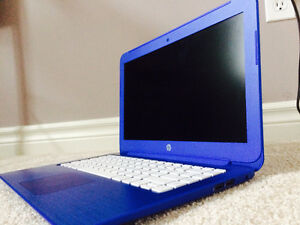 Cobalt Blue HP Stream Laptop + Teal Case