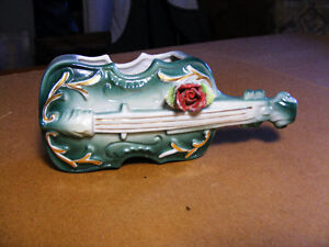 Vintage Porcelain Violin Ornament