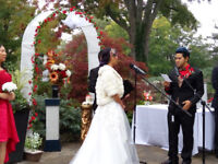 wedding arch and assorted flower arrangements, bouquets,decors