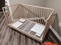 Baby crib 3 in one