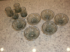 Vintage smoked gray glasses