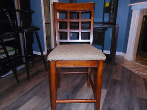 1 wooden counter or bar stool