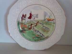 Decorative Plate- Crown Royal-Fox Hunting