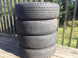 Four Firestone P195/65R15 Summer Tires Excellent Tread