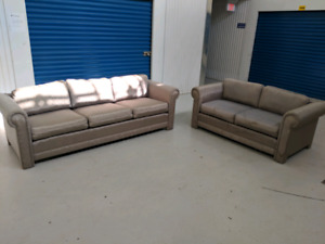 Modern  Designer     Fabric  Sofa and Loveseat. Free Delivery.