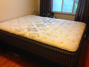 Firm Queen Mattress with Boxspring and Metal Frame - $1000 OBO
