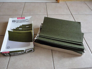 Box of 25 legal size hanging file folders NEW in box