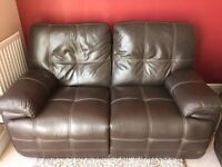 Leather Reclining Sofa's