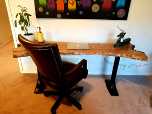 Live edge kitchen table or desk or sofa table