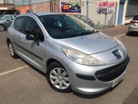 PEUGEOT 207 1.4 PETROL + 5 DOOR + HPI CLEAR + S/H + PX WELCOME
