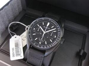 For sale: brand new 2017 release Bulova Moon Watch in black IP