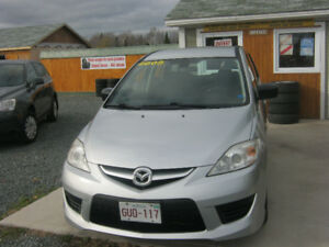 2009 Mazda Mazda5 Black cloth Minivan, Van