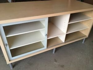 TV stand with shelf.