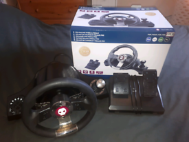 Numskull steering wheel and pedals