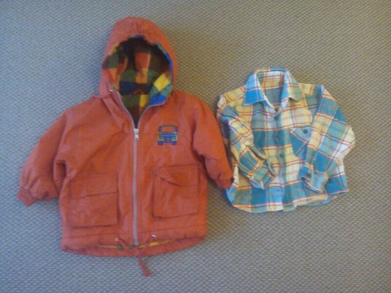 Boy's Winter Coat and Shirt.