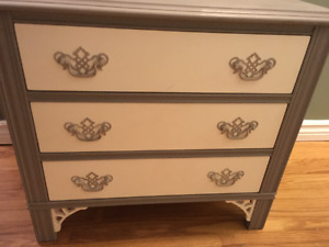 Solid Wood Nightstand refinished in Paris Grey