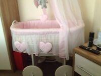 Large pink crib