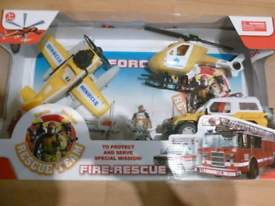 Fire and rescue set brand new sealed can deliver