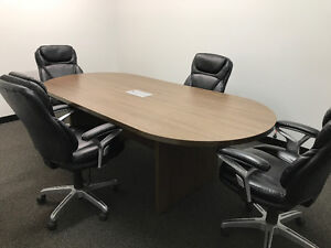 Boardroom Table & 6 Chairs ***LIKE NEW***