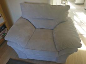 Grey fabric single sofa/armchair