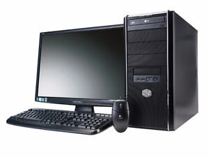 COMPLETE SYSTEM Intel Dual Core Windows 7 with FREE LCD monitor