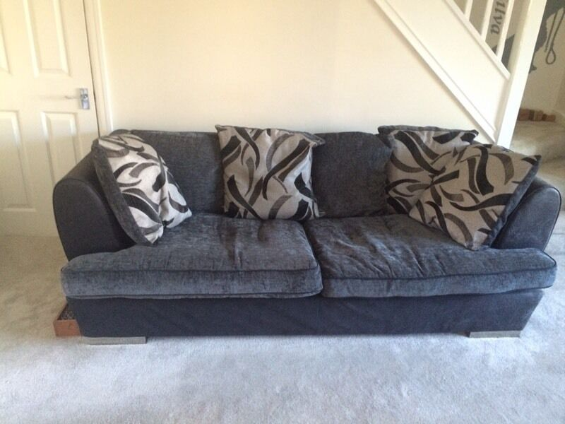 3 Seater Dfs Black And Grey Cloth Sofa In Wilmslow Cheshire Gumtree